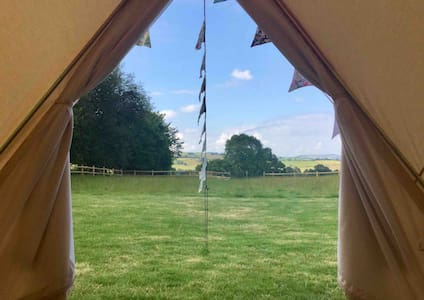 Cwm Cwtch glamping, Llanidloes. 2 tents available
