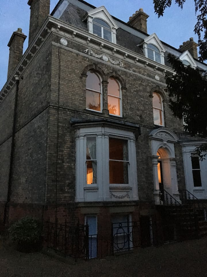 Basement of Victorian property. Space to park in front of house.