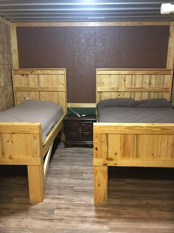 Rent a room in our rustic cabin