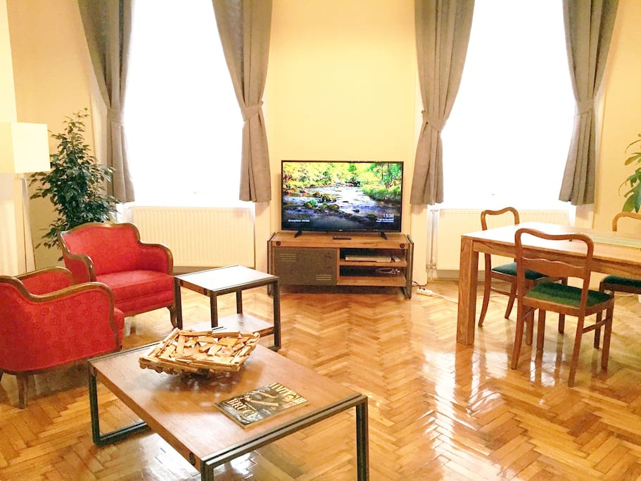 View of the very spacious living room