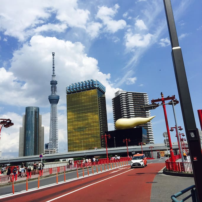 Only a minute walk from Asakusa station!!