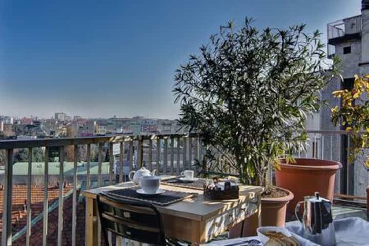 Camera doppia con vista e terrazzo
