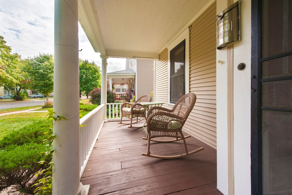 Front Porch has Seating to Enjoy a Summer Night