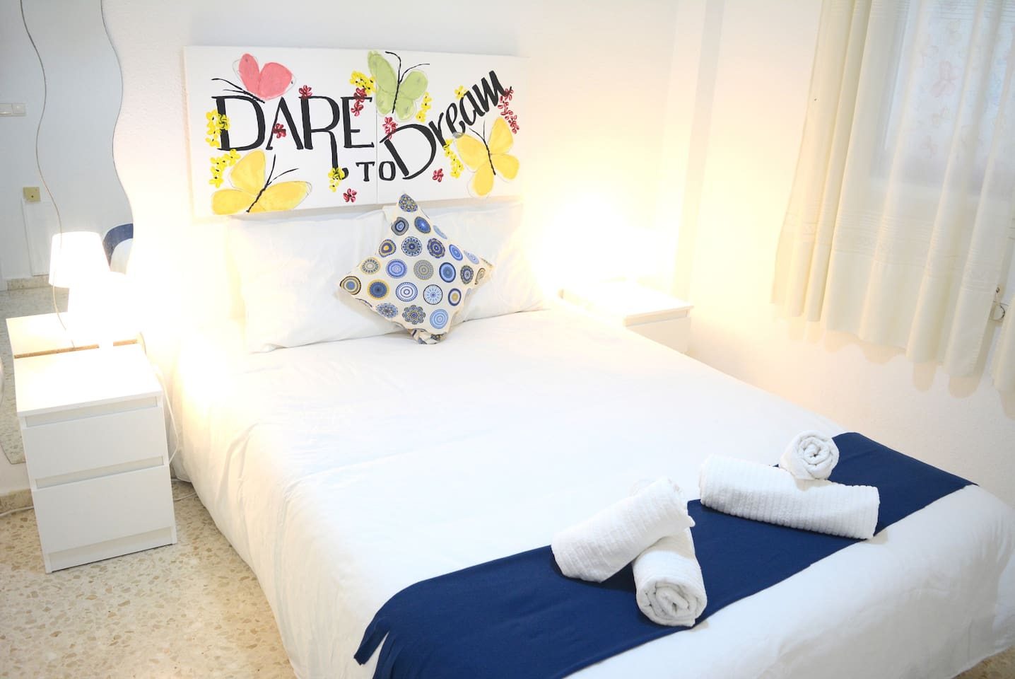 Room with double bed 135cm...