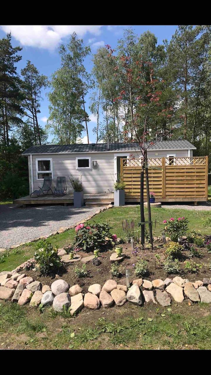 Naturskönt boende i egen villavagn i Fjärås