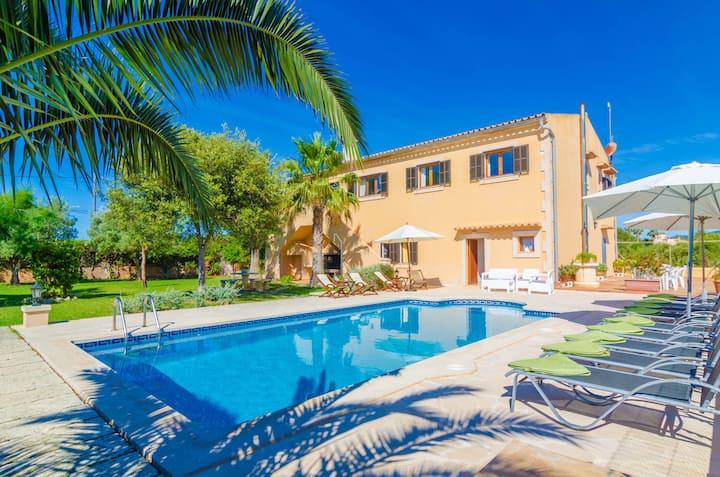 CAN JERONI - Breathtaking villa with private pool located near the beach Free WiFi