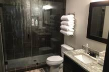Master spa-like bathroom