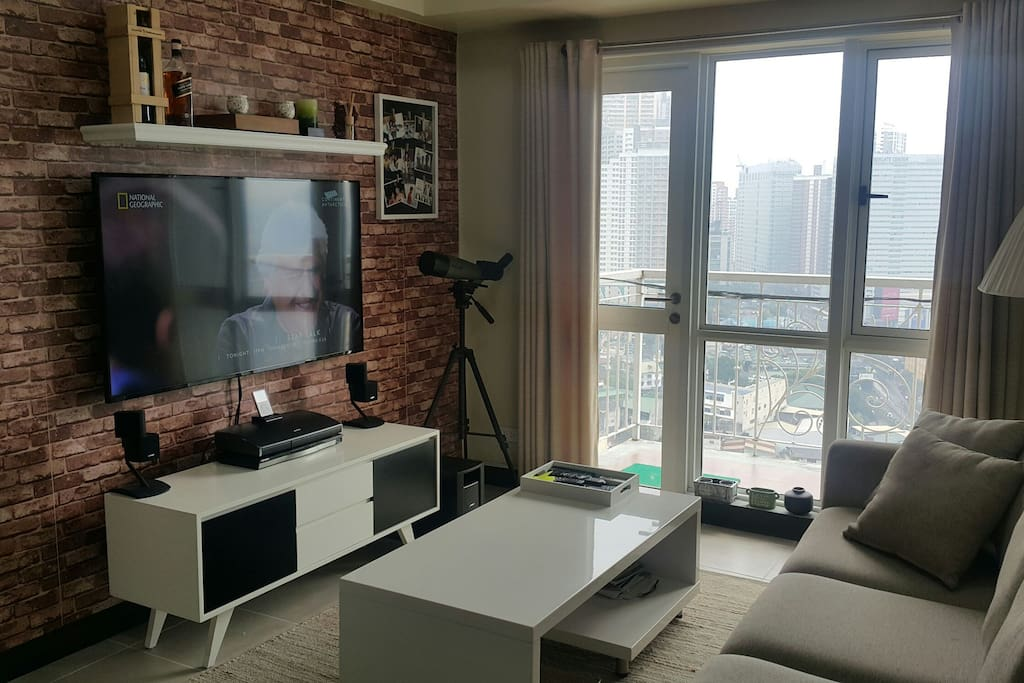 Living area with great view outside.