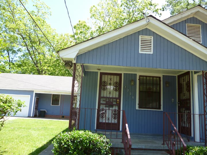 The Big Blue Cottage (Air BnB ) on Mobile Ave.