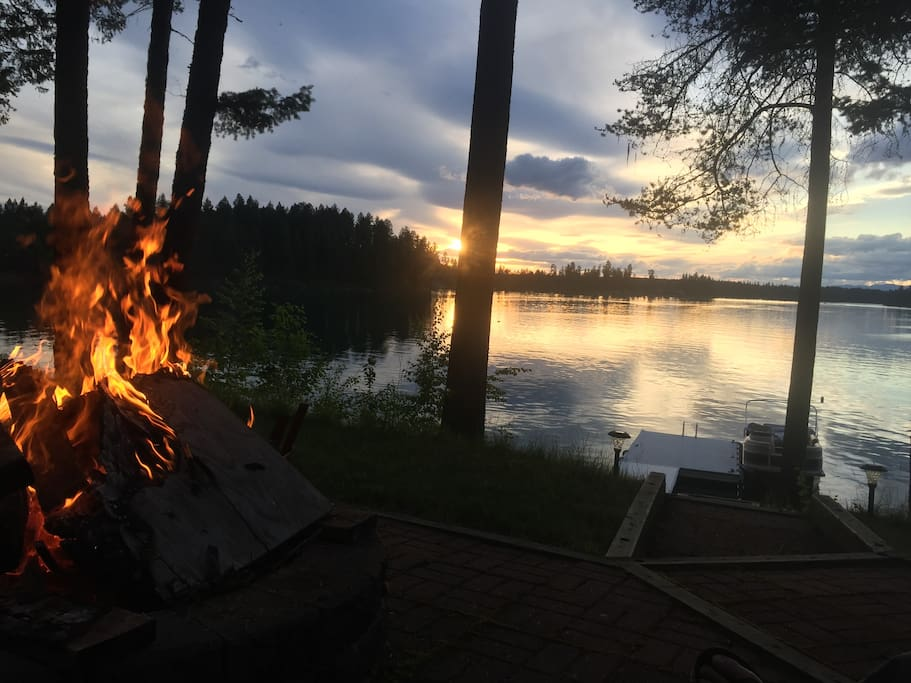 Magnificent views from the lakeside fire pit.