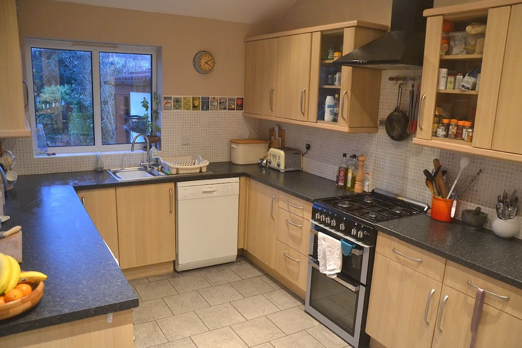 Big well-equipped kitchen