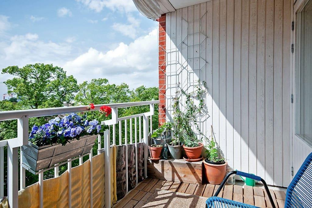 1 of 2 balconies