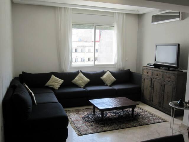 Charmant apt meublé-2CH, terrasse Maarif Extension - Casablanca - Apartment