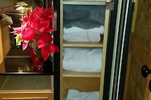 Fresh towels and linens are a must