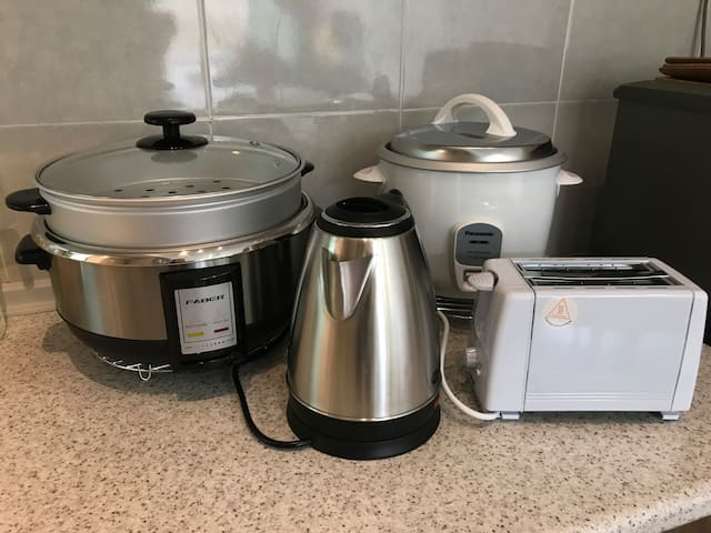 We provide rice cooker, steamboat pot,toaster, kettle and water purifier.