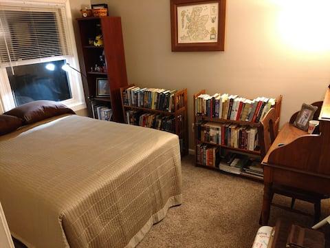 One cozy bedroom in townhouse.