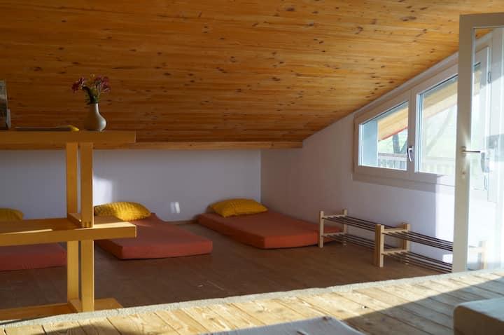 Matratzenlager auf dem Bolderhof