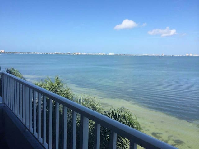 Amazing bay front view from your balcony looking over to St Pete's Beach area