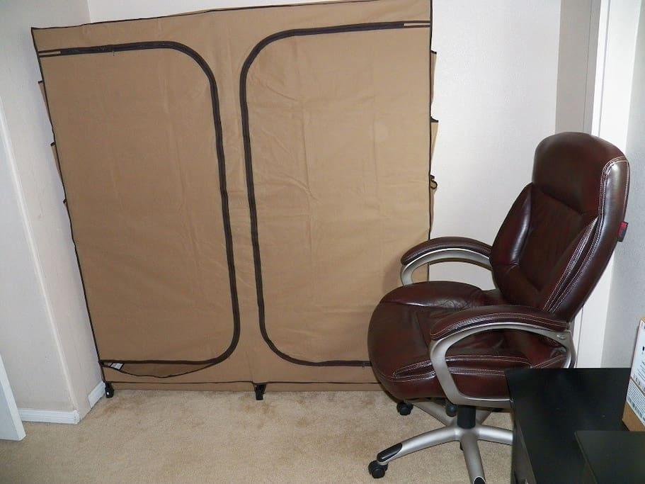 closet + chair