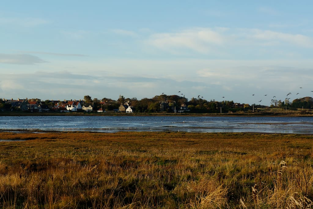 Aberlady from across the bay