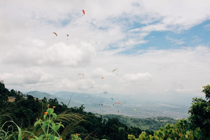 Paragliders view on the way