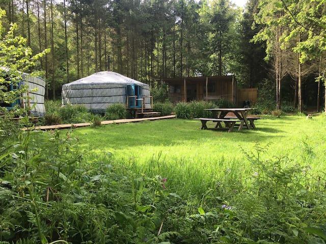 Barefoot yurts - Brede - กระโจมทรงกลม