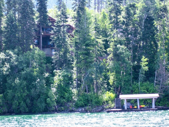 View of cabin from the Lake