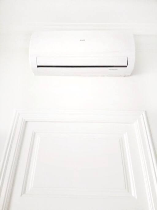 Air conditioning that keeps the whole apartment cool.