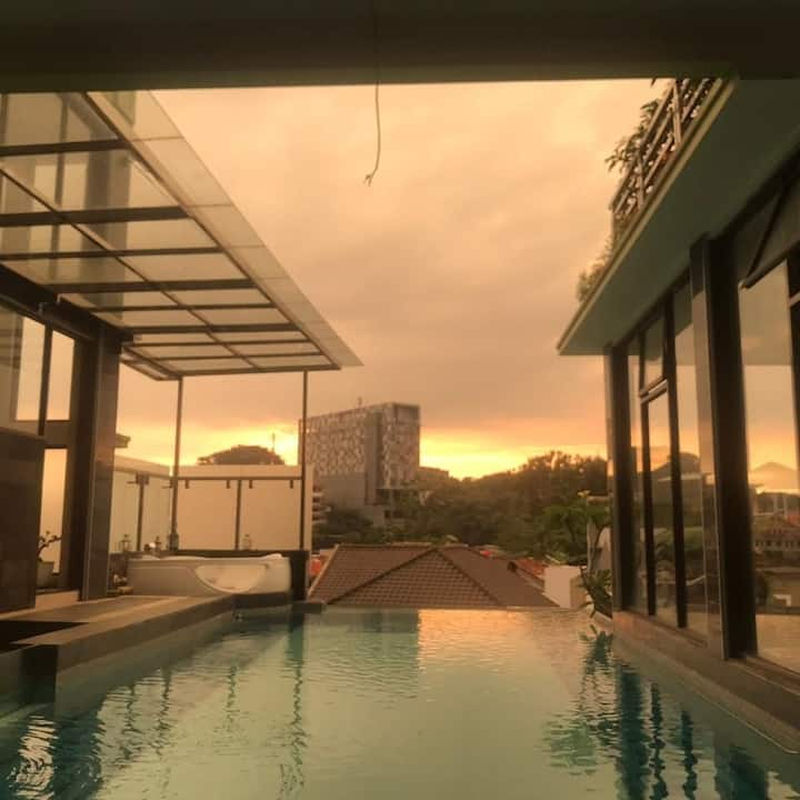 The Setiabudhi Terrace stay PRIVATE POOL & JACUZZY