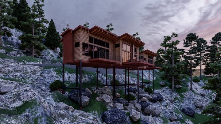 Luxury 2 BR/2BA Zen Treehouse with Views for Miles
