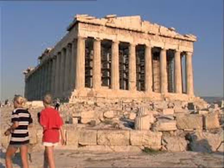 The Parthenon, just 15 minutes walking from the apartment!