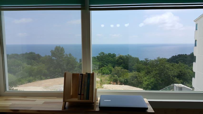 동해바다 뷰 영화 '봄날은 간다' 배경 아파트 햇몸 하우스