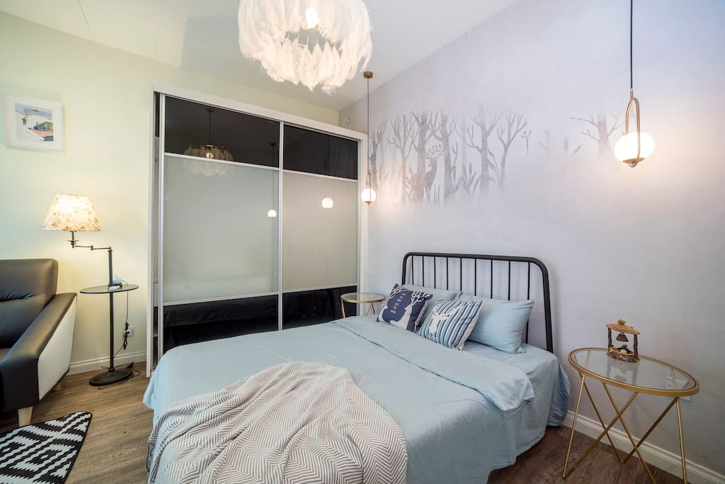 Nicely decorated master bedroom