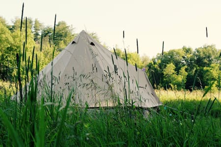 Ibiza Tent on Horse Farm with Hot Tub