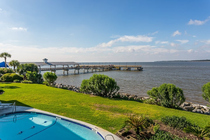 Amazing Views of Beach, St. Simons Sound, Pier and Jekyll Island