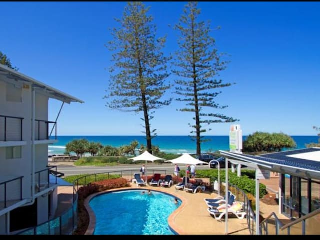 Absolute Beach Front with Heated Pool