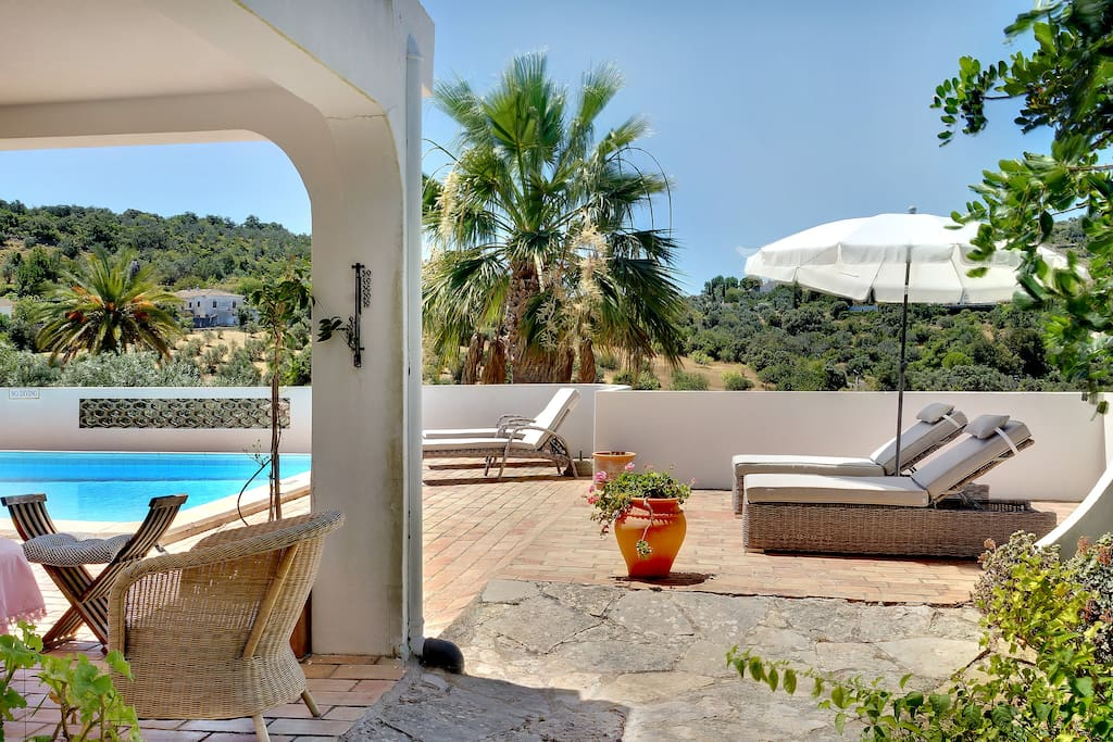 Relax with comfy sun loungers whilst enjoying the view.