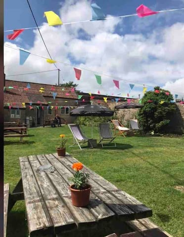 Extensive pub garden