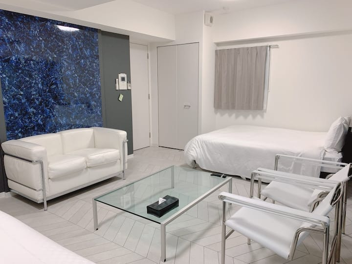 Galaxy Big One Room Double bed 難波エリア!心斎橋、道頓堀すぐ/駅3分