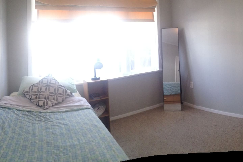 A warm sunlit room