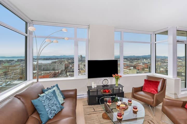 Panorama Suite Sub Penthouse Downtown with Parking