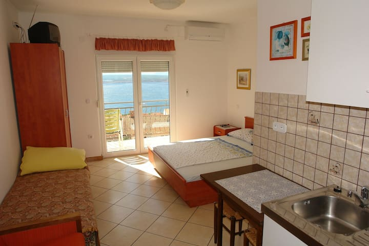 Studio Apartment, in Dramalj (Crikvenica), Balcony