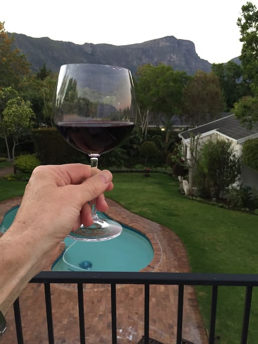 A glass of Groot Constantia Wine to mellow the evening