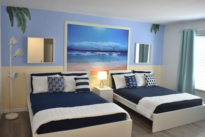 Lux full equipped apt in Miami beach/ 2 queen beds