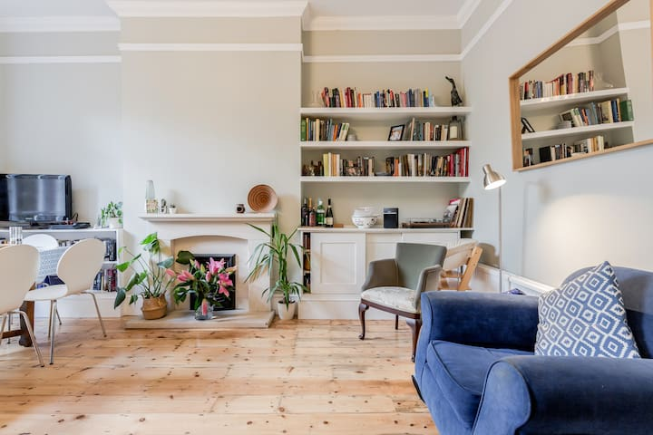 Spacious London flat with great travel connections