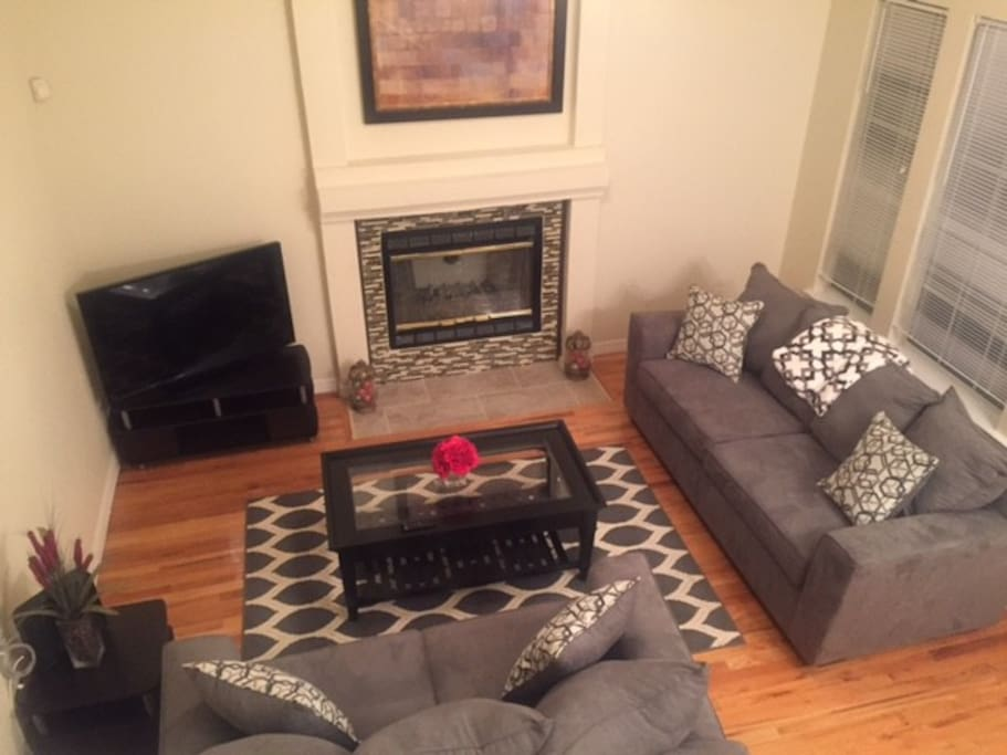 Living Room includes fireplace.