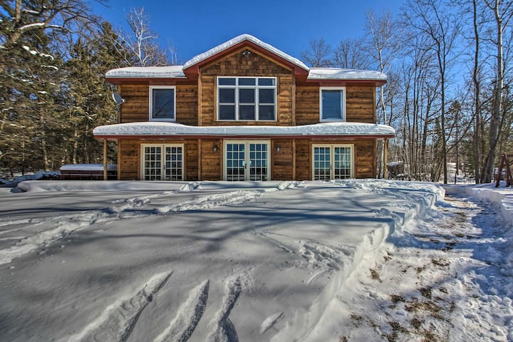 NEW! Waterfront Home on Long Lake w/Dock & Beach!