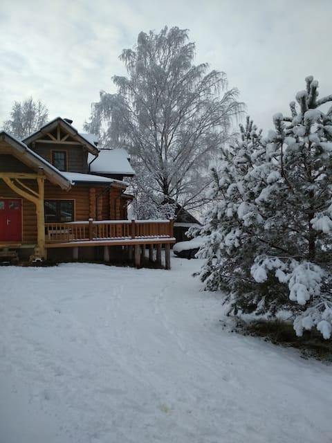 Casa grande de madeira