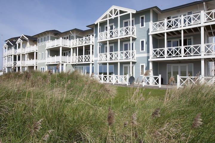 Comfortabele familiekamer met balkon, nabij strand