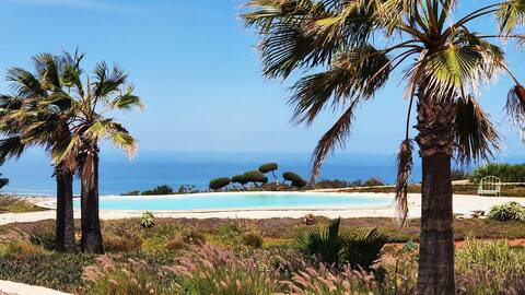 Belle villa Vue Mer 6 pers : piscine partagée